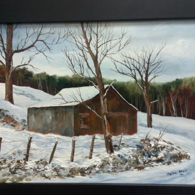 Barn near Engelhart (11x14) inches