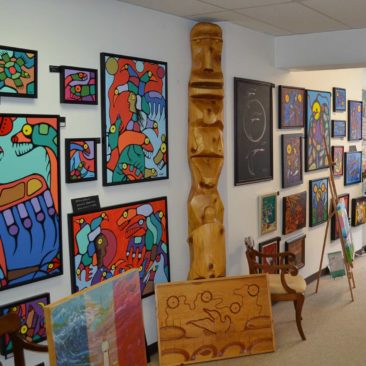 We hold artist events and participate in gallery hops