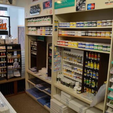 Paints, canvas…we will price match all our art supplies