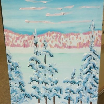 Winter Up North (24x36) inches