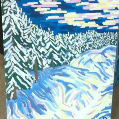 Winter's Shapes (24x30) inches