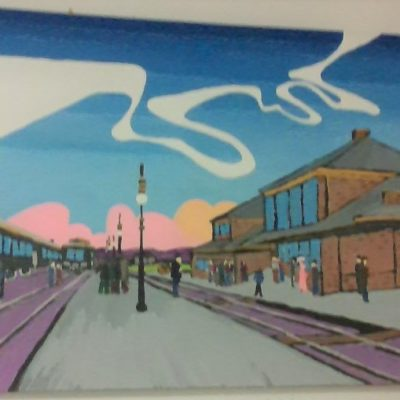 Train Station (24x36) inches