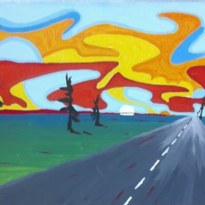 Along the Highway (24x36) inches