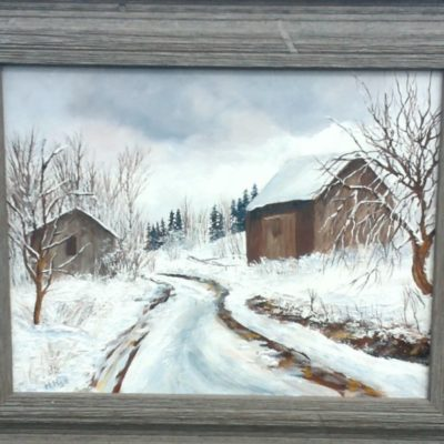 Winter in Englehart (11x14) inches