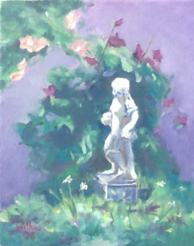 Garden's Statue by Kim Wilkins (16x20) inches - Also check out his website www.KNWILKINS.com