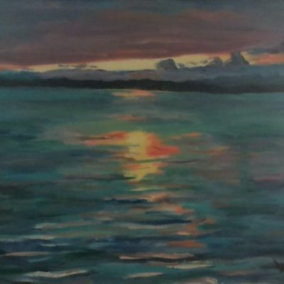 Sunset by Kim Wilkins (14x18) inches - Also check out his website www.KNWILKINS.com