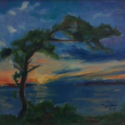 Sunset On An Island by Kim Wilkins (15x20) inches - Also check out his website www.KNWILKINS.com
