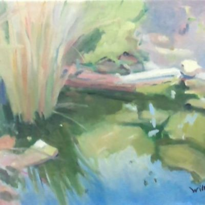 A Quiet Day At The Pond by Kim Wilkins (16x20) inches - Also check out his website www.KNWILKINS.com