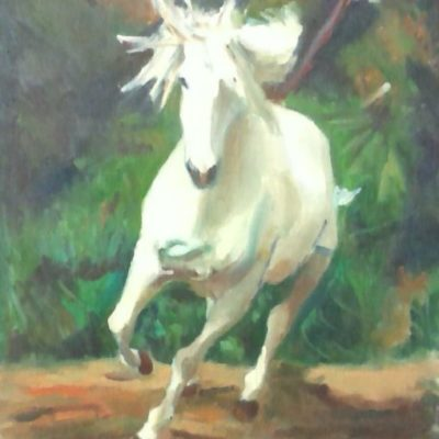 Running Horse by Kim Wilkins (20x24) inches - Also check out his website www.KNWILKINS.com