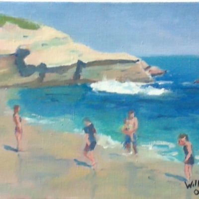 A Day At The Beach by Kim Wilkins (16x20) inches - Also check out his website www.KNWILKINS.com