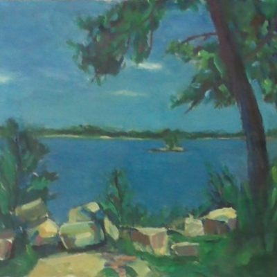 An Island Day by Kim Wilkins (18x24) inches - Also check out his website www.KNWILKINS.com