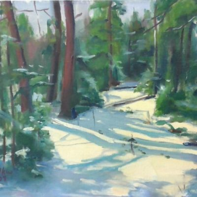 Out In The Woods by Kim Wilkins (18x24) inches - Also check out his website www.KNWILKINS.com