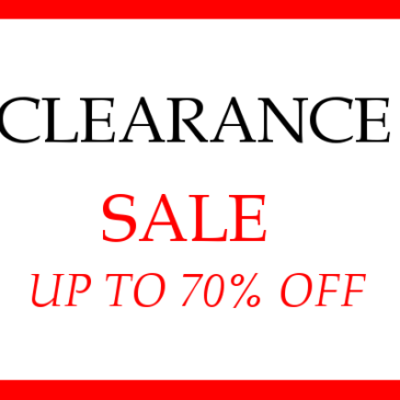 CLEARANCE – END OF YEAR